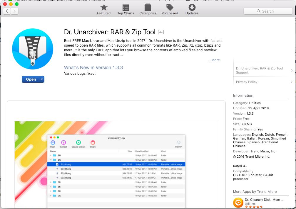 The Unarchiver Winrar Mac