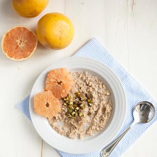 Basmati Rice, Cardamom, and Pistachio Porridge with Grapefruit (gluten free)