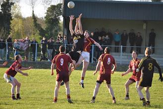 Photo: Damian Moran goes high 2015 league v Annaduff