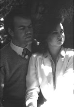 Photo: This is the engagement shot for a couple in a film noir. Photography in dappled light is always a challenge.