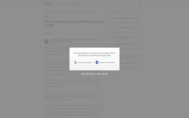 Quora Anti-Signup