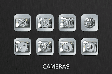Silver Chrome Icon Pack v2.1.0
