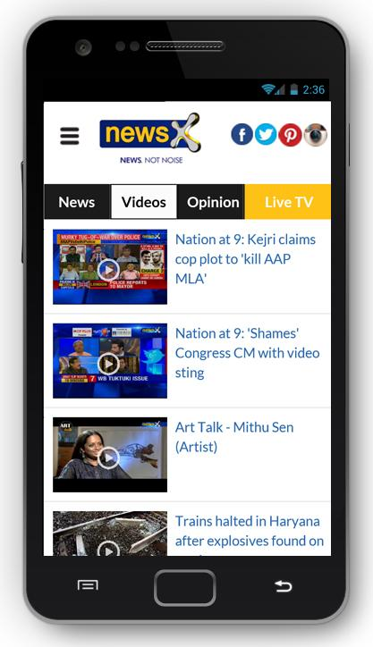 NewsX: Live English News App- screenshot