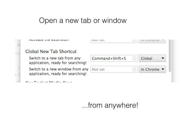Global New Tab Shortcut