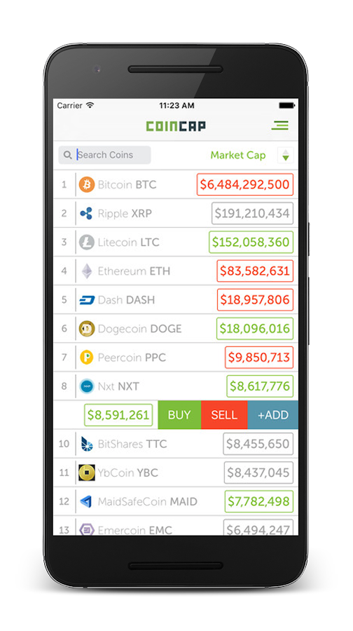 CoinCap.io- screenshot