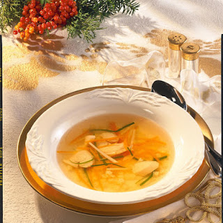 Chicken Soup with Julienne Vegetables.