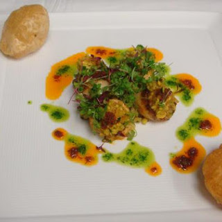 Chickpea Salad With Cilantro Dressing.