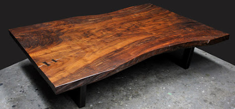 Photo: for more info ion this coffee table see this blog post  http://dorsetcustomfurniture.blogspot.com/2016/04/claro-walnut-slab-tables.html