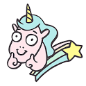 Silly Unicorn Emoji Keyboard Stickers for Gboard icon