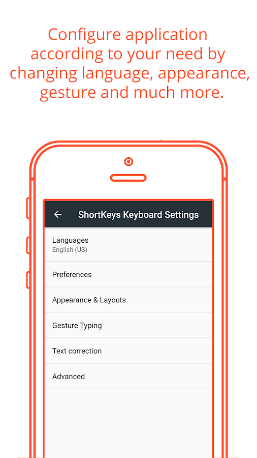 ShortKeys - Custom Keyboard- screenshot