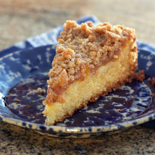 Peach Cake With Buttery Crumb Topping