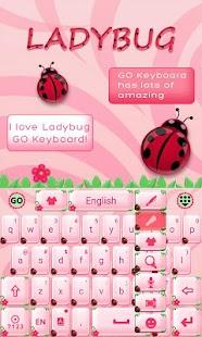 Cute-Ladybug-GO-Keyboard-Theme 5
