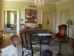 Photo: parlor inside Jubilee Hall. As a National Historic Landmark, the first floor is preserved as it was in 1873 (for the most part)