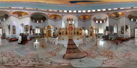 Photo: Russian Orthodox Basilica dedicated to the Ascension of Jesus, located on the Mount of Olives