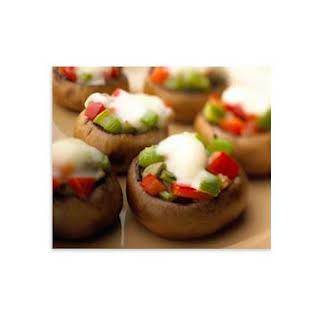 Crème De Brie Stuffed Mushrooms.