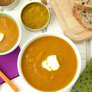 Spiced Carrot Cauliflower Soup