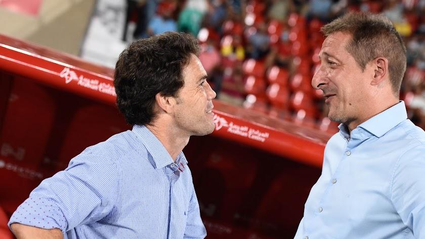 Rubi y Ramis en el Almería-Tenerife, que también se jugó en viernes.