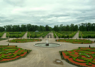 Photo: A large French formal garden is in the back of the palace.