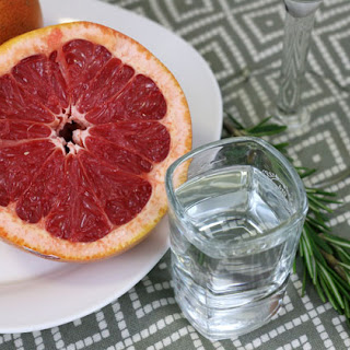 Grapefruit Martini with Rosemary