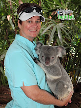 Photo: Koala and Lynn, Wildlife Habitat, Port Douglas. We went at least 2X to hang out in the cool, misty mornings with critters.