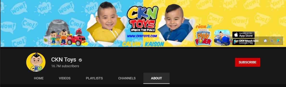 CKN Toys YouTube Channel