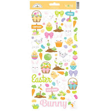 Doodlebug Cardstock Stickers Hoppy Easter - Icons