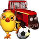 Pio chick and 3d tractor