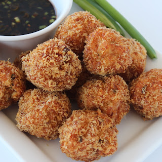 Amazing Asian Shrimp Balls with Spicy Dipping Sauce.