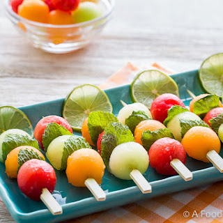 Mint and Melon Kabobs