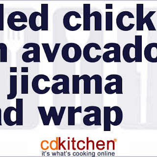 Grilled Chicken with Avocado and Jicama Salad Wrap Recipe