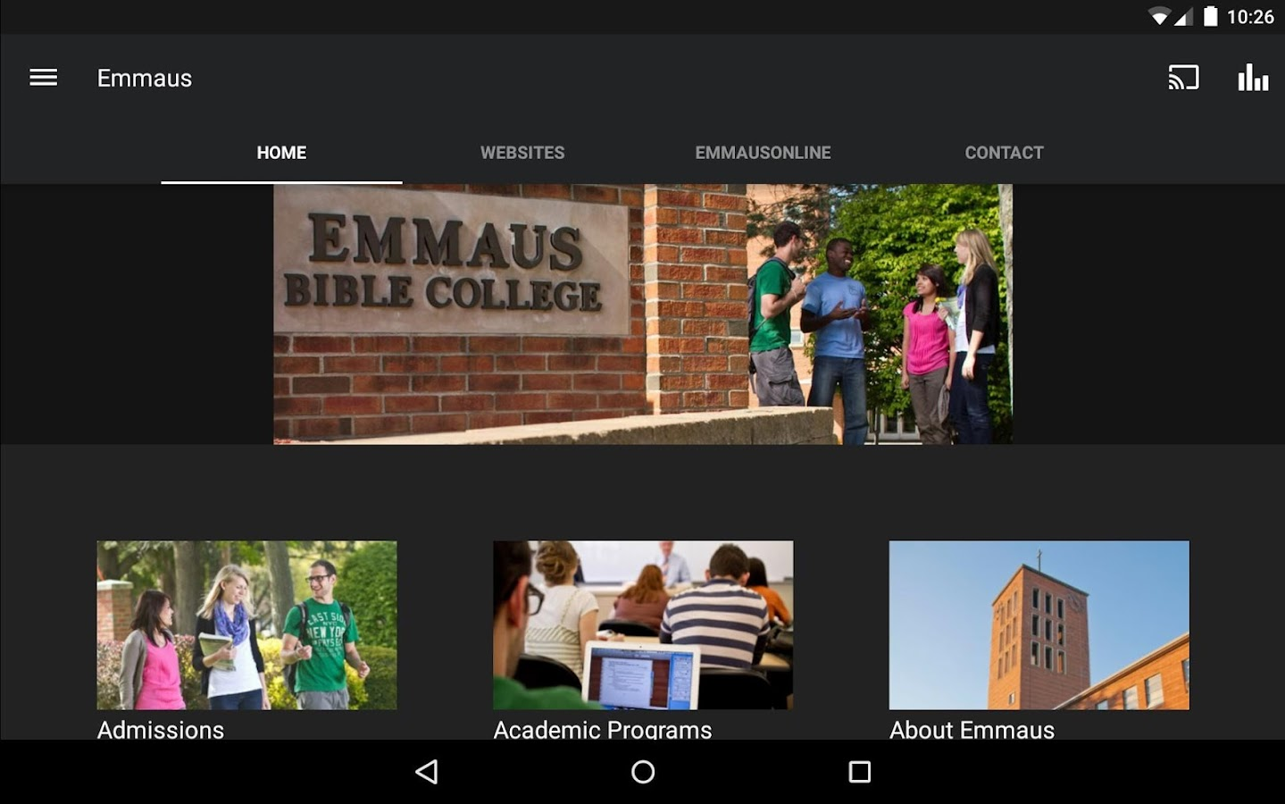 Emmaus Bible College- screenshot