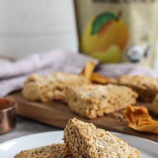Coconut Mango Almond Flour Scones.