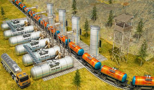 Indian Train City Pro Driving- Oil Tanker Train  screenshots 12