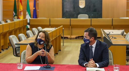 Carmen Crespo en El Ejido.