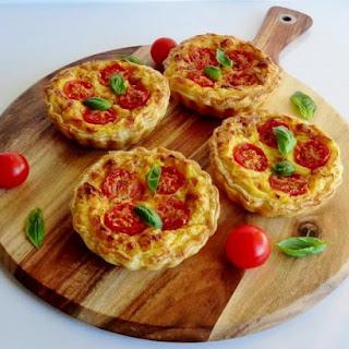 Corn, Caramelised Leek and Tomato Tarts Recipe