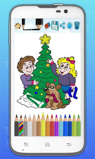 クリスマスをペイントする描画
