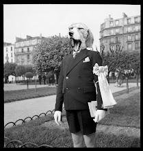 """Photo: Serie """"une vie de chien"""" de photomontage de 2012/2013 format 400x400 nb © Olivier Perrot http://www.tk-21.com/Cave-canem"""