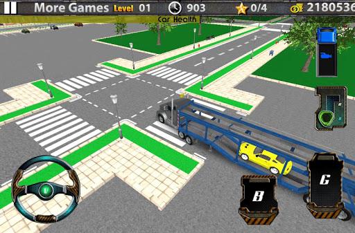 Car transport 3D trailer truck
