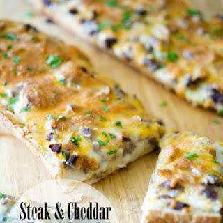 Steak & Cheddar French Bread Pizza.
