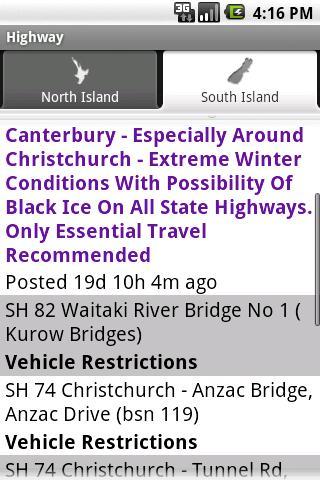 NZRoadInfo screenshot 3