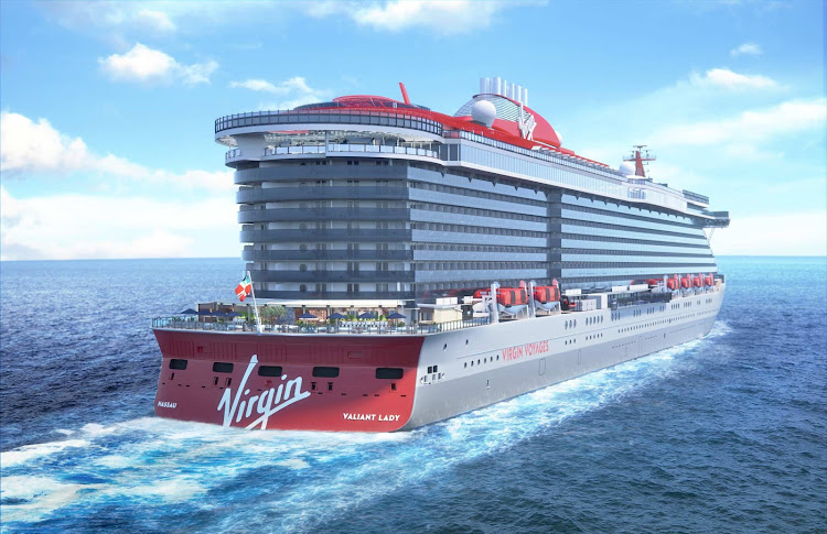Valiant Lady is scheduled to begin sailings in the Mediterranean in spring 2022 as Virgin Voyages' second ship.