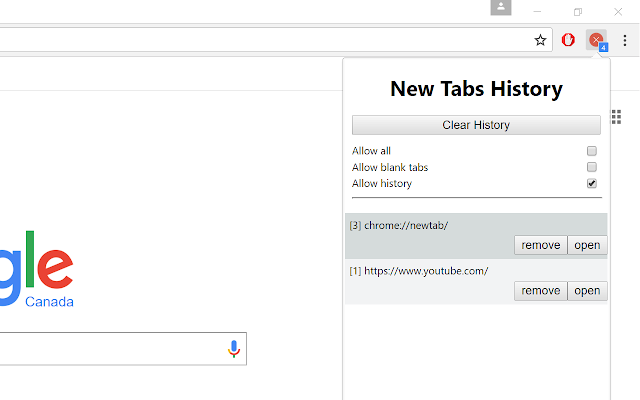 No New Tabs