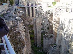 Photo: The Pool of Bethesda site; at this site, Jesus cured a paralyzed man.