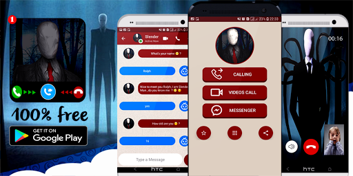 slender Man's video call / chat simulator (prank)  captures d'écran 1