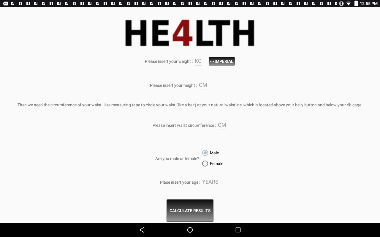 He4lth Smart Body Weight App With Bmi Formula Android