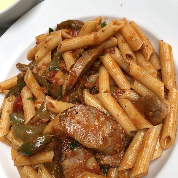 Sausage pasta!