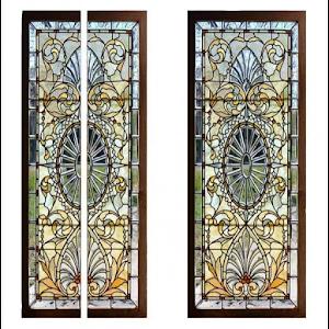 Autocolant decorativ pentru usa, vitraliu - 76 x 200 cm
