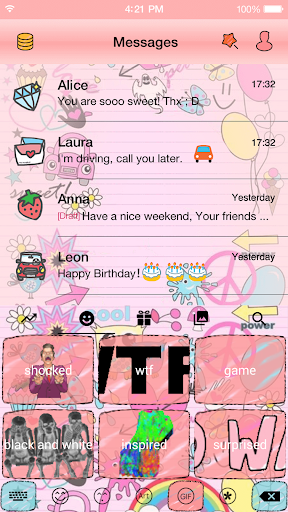 玩免費遊戲APP|下載Lovely Pink Life Keyboard -Gif app不用錢|硬是要APP