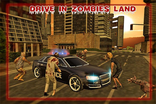 Police Driver Zombie Shooter