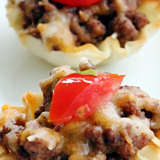 Mini Cheesy Taco Cups.